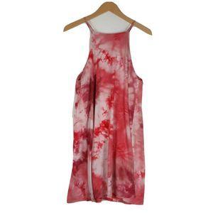 Wallflower Pink Tank Beach Midi Bleach Dress Sz XL